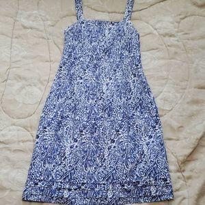 Jessica Howard sundress, white & blue size 10